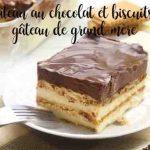 Gâteau au chocolat et biscuits, gâteau de grand-mère