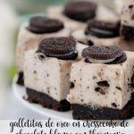 Biscuits à l'oréo dans un gâteau au fromage au chocolat blanc avec thermomix