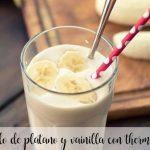 Smoothie glacé à la banane et à la vanille avec thermomix