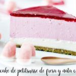 Cheesecake petit suisse à la fraise et à la crème avec thermomix