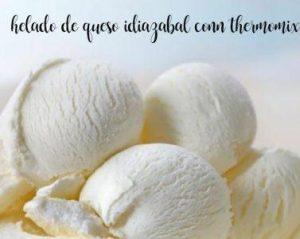 Crème glacée au fromage Idiazabal avec thermomix