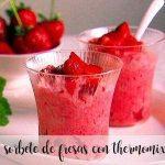 Sorbet à la fraise au thermomix