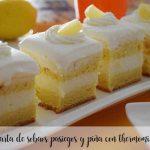 Sobaos pasiegos et tarte aux ananas avec le thermomix