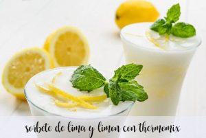 Sorbet citron vert et citron avec le Thermomix