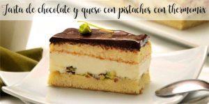 Gâteau au chocolat et au fromage avec pistaches au thermomix