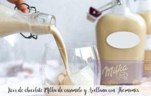 Liqueur de chocolat Milka au caramel et aux noisettes avec Thermomix