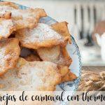 Oreilles de carnaval (pâte sucrée frite) avec thermomix