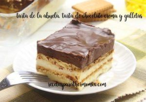 Gâteau de grand-mère au chocolat et aux biscuits avec thermomix