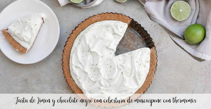 Gâteau au chocolat noir et citron avec garniture au mascarpone et au thermomix