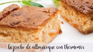 Gâteau éponge aux abricots avec Thermomix
