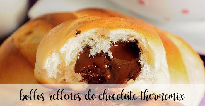 Petits pains fourrés au chocolat avec Thermomix