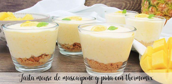Gâteau de souris au mascarpone et ananas avec thermomix