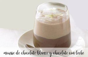Chocolat blanc et mousse au chocolat au lait avec thermomix