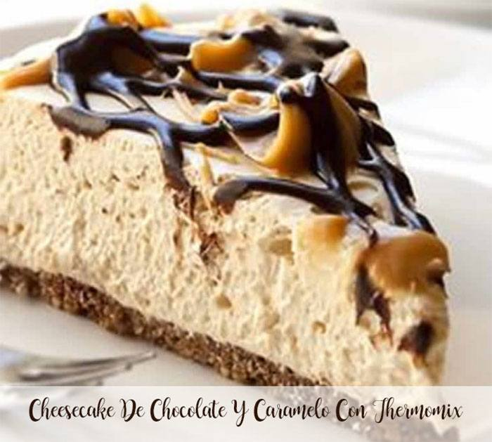 Cheesecake au chocolat et caramel avec Thermomix
