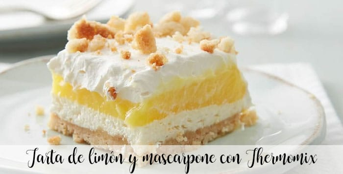 Gâteau au citron et mascarpone avec Thermomix