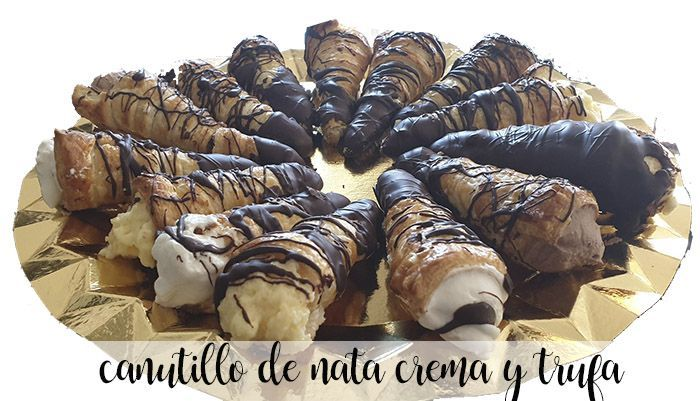 Canutillos fourrés à la crème, crème pâtissière et truffe au thermomix