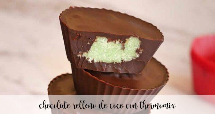Chocolat fourré à la noix de coco avec Thermomix