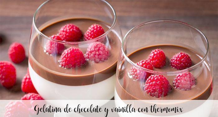 Gelée au chocolat et à la vanille avec thermomix