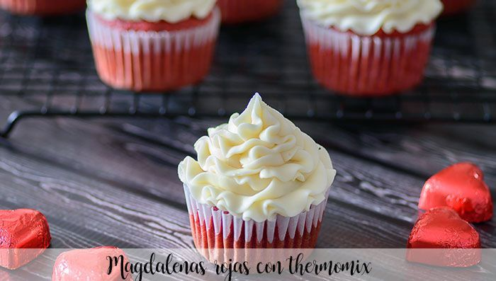 Muffins rouges au thermomix