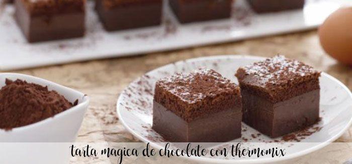 Gâteau au chocolat magique avec Thermomix