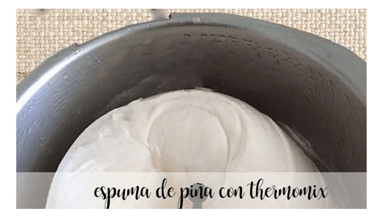 Mousse d'ananas avec Thermomix