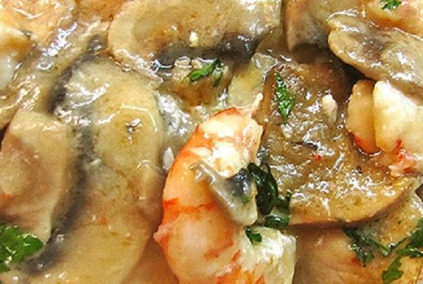 Recette Champignon aux crevettes chez Thermomix