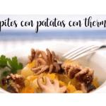 Poulpe aux pommes de terre avec thermomix