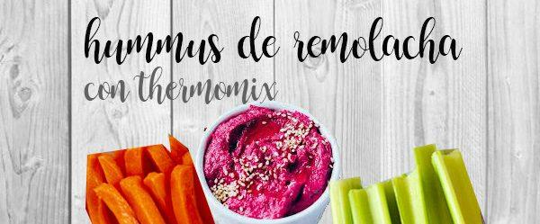 Hummus de betterave avec thermomix