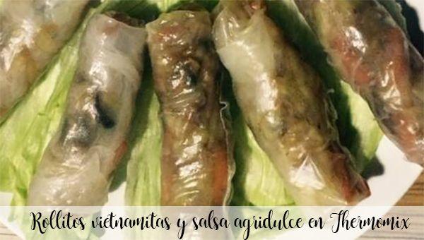 Rouleaux vietnamiens et sauce aigre-douce au Thermomix