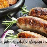 Saucisses à la sauce aigre-douce allemande au Thermomix