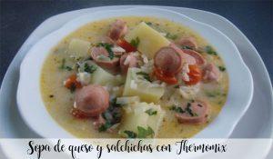 Soupe au fromage et saucisses au Thermomix