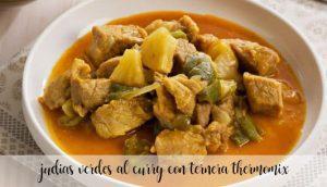 Curry de haricots verts au boeuf au Thermomix
