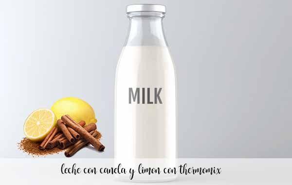 lait au citron et cannelle au thermomix