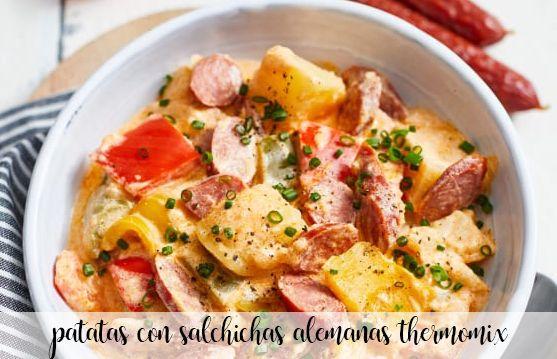 pommes de terre aux saucisses allemandes au thermomix
