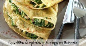 Quesadillas aux épinards et artichauts au thermomix