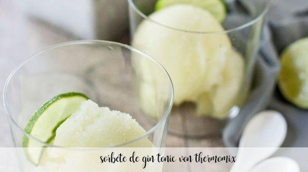 sorbet gin tonic au thermomix
