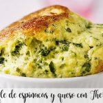 Soufflé aux épinards et au fromage avec Thermomix