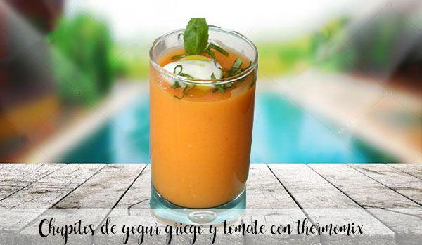 Yogourt grec et shots de tomates au thermomix