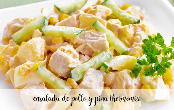 Salade de poulet et ananas au thermomix